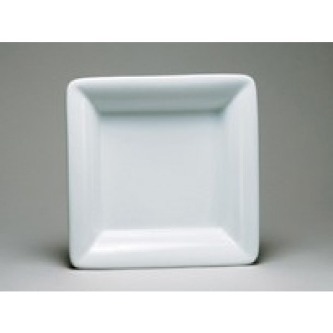 White Porcelain China Square Plate