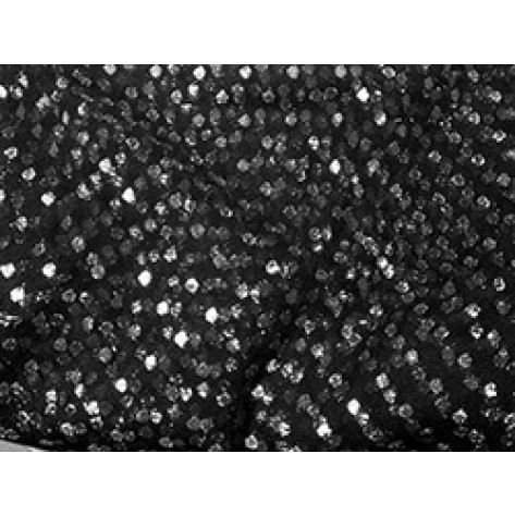 Black Sheer with Silver Dots - LSH05