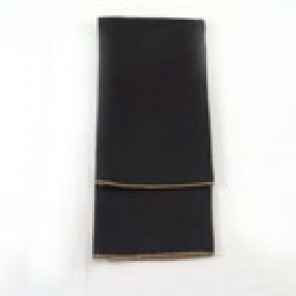 Black Polyester with Gold Marrowed Edge - LPL45