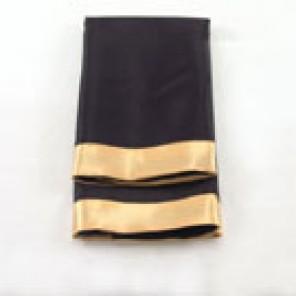 Black Satin with Gold Satin Edge Napkin
