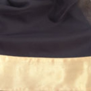 Black Sheer with Gold Satin Border - LSH11
