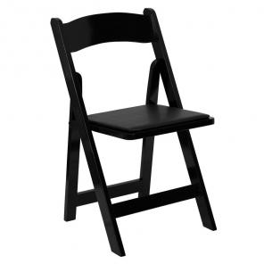 Black Wood Folding Chair – C27 (Qty: 50+)