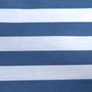 Blue and White Cabana Stripe