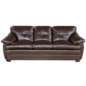 Brown Leather Sofa- SF73 (Qty: 1+)