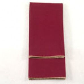 Burgundy Twill with Gold Merrowed Edge
