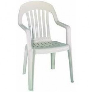 White Resin Plastic Chair