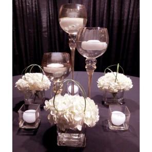 Charisma Candle Trio with White Hydrangea - PF77