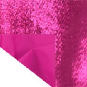 "Fucshia Tissue Lame with Fucshia Cotton Back Sash - 74""x 4"" - CTS17 (Qty: 280+)"