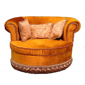 Gold Settee with Fringe - SF42 - (Qty: 4+)