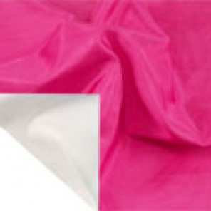 Hot Pink Silk with White Cotton Back