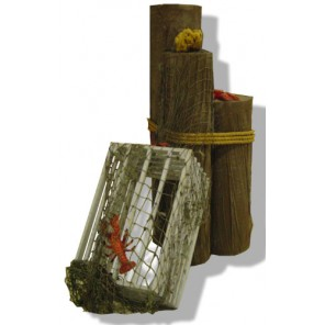 Dock Piling and Lobster Trap Vignette - PR37 (Qty: 6+)