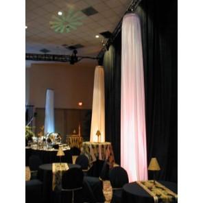 White Fabric Columns - PR42
