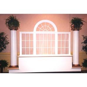 White Palladian Window Vignette - PR43