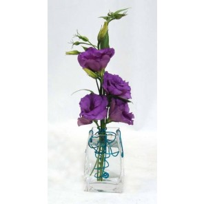 Purple Lisianthus with Wire Accent - PF45