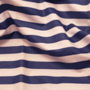 Navy Bluestone Cabana Stripe Chintz - LPR83