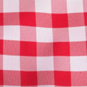 Red and White Picnic Check