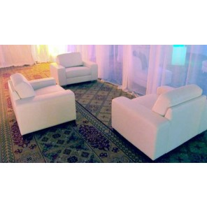 White Modern Leather Chairs