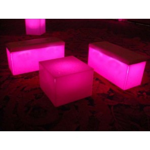 Seated Glow Benches and Coffee Cube - SF11