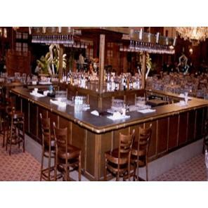 Dark Oak Bar with Matching Back Bar