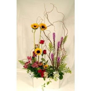 Sunflower Mixed Floral with Curly Willow - PF104