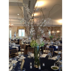 Hydrangea, Curly Willow, & Dendrobium Orchids- PF91