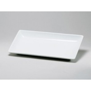 "White Porcelain China Rectangular Swivel Plate 11 3/4""x 6""x 1 1/4"" - CE36c (QTY: 80+)"