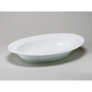 White Porcelain China Deep Oval Bowl
