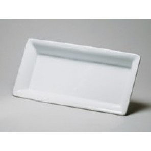 White Porcelain China Rectangular Platter
