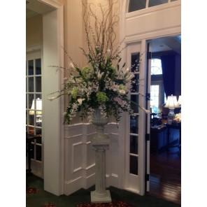 White and Green Pedestal Arrangement - PF106