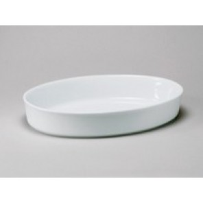 "White Porcelain China Deep Baker 15"" x 2"""