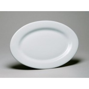 White Porcelain China Oval Plate