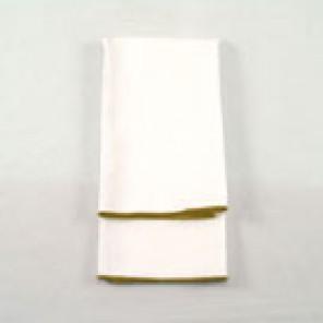 White Twill with Gold Merrowed Edge - LPL50