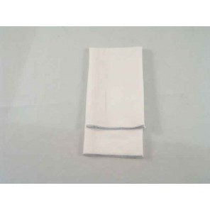 White Twill with Silver Merrowed Edge - LCT60